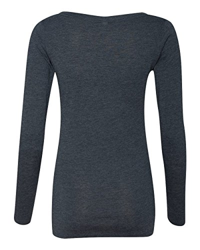 Next Level Apparel 6731 Lady Tri-Blend Long-Sleeve Scoop - Vintage Navy, Extra Large