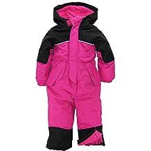iXtreme Little Girls' Snowmobile 1-Piece Winter Skiing Snowsuit, Pink Glow, 3T