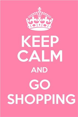 amazon com keep calm and go shopping glossy poster picture photo