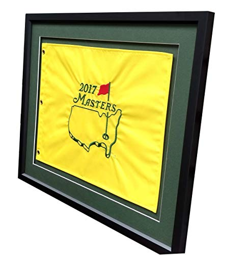 Golf Flag Frames 18X22 Compact Black, Moulding blk-001, Green Mats (Float Mount; Perfect for 13x17 Master's Golf Flags; Flag not incl)