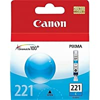 Genuine OEM brand name CANON CLI-221 Cyan Inkjet 2947B001
