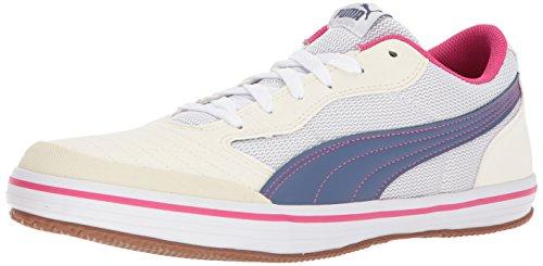 PUMA Mens Astro Sala Sneaker, Whisper White-Blue Indigo, 10 M US