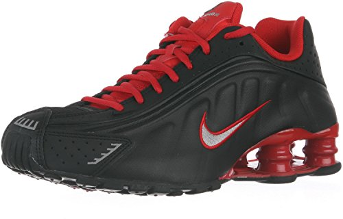 Nike Shox R4 Black Metallic Silver University Red 104265-063