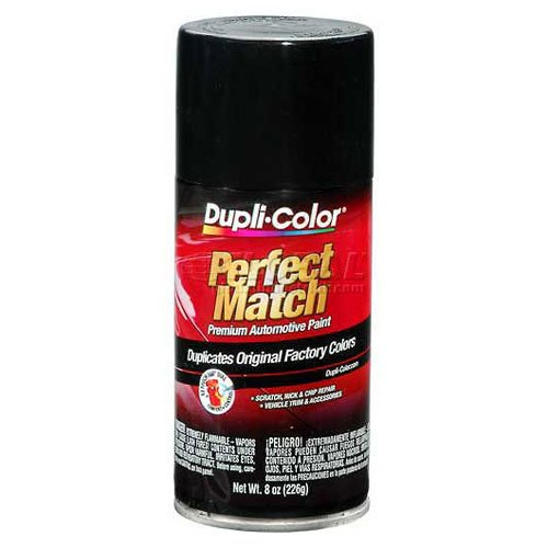 Dupli-Color Exact-Match Automotive Paint Universal Gloss Black 8 Oz. Aerosol - Lot of 6