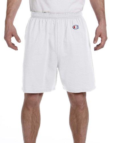(Champion 6 oz. Cotton Gym Short, XL, SILVER GRAY)