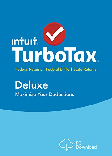 TurboTax Deluxe 2015 Federal + State Taxes - Tax Preparation Software - PC Download [Old Version]