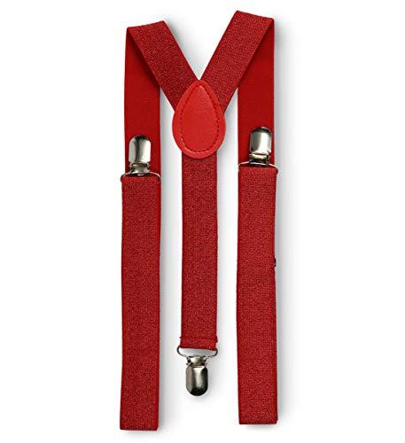 Mozlly Glamorous Sequin Suspender Disco Retro Funky Luxurious Costume (Red) -