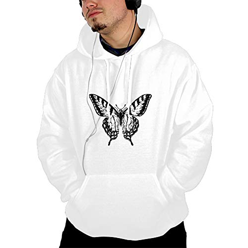 Men's Hoodies Sweatshirt Vintage Butterfly Long Sleeve Pullovers Tracksuit T Shirts
