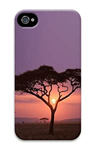 ICORER Cute iPhone 4S/4 Case, Wild Sun Africa PC Hard Case Cover for Apple iPhone 4s and iPhone 4