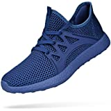 KIKOSOCKS Womens Sneakers Lightweight Athletic Running Shoes Breathable Sport Air Fitness Gym Jogging Sneakers Blue 5.5 M US