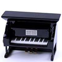 3.5 Black Upright Piano Ornament