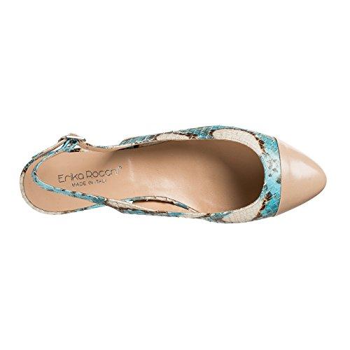 ERISAR - Zapatos con correa de tobillo Mujer Mehrfarbig (Türkis)