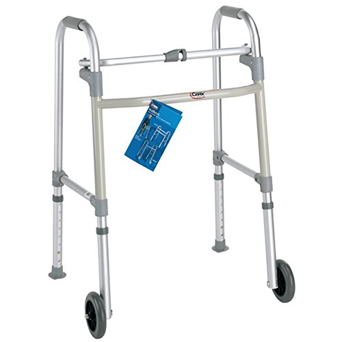Carex Health Brands FGA85790 0000 Single-Button Walker with Wheels
