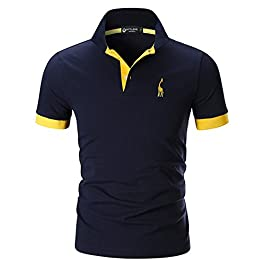 STTLZMC Mens Casual Short Sleeve Polos Tennis Golf Classic Polo Shirts