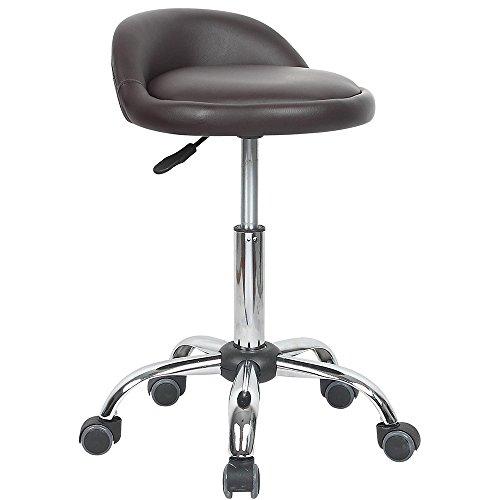 Juno Adjustable Height Massage Stool w/Wheels ()