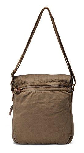 Gootium lona de la vendimia de hombro clásicos de los hombres / bolso de hombro, 25 cm, de color caqui Militar Verde