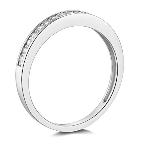 .925 Sterling Silver Rhodium Plated Wedding Band - Size 7.5 by The World Jewelry Center (Image #1)