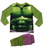 Lora Dora Big Boys' Marvel Avengers Inc Ible Hulk Pyjamas Pj Set 7-8 Years Incredible Hulk Novelty Pj'S