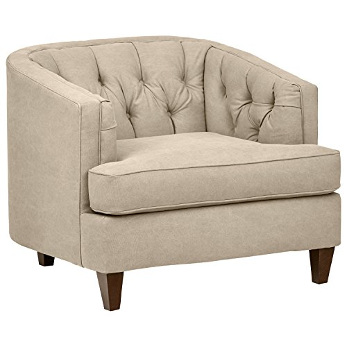 Stone & Beam Leila Tufted Chair, 44″ W, Linen Review