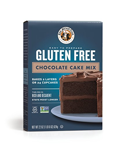 (King Arthur Gluten Free Chocolate Cake Mix, 22 Ounce)