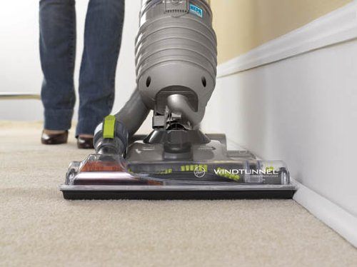 Hoover WindTunnel Air Bagless Upright Corded Lightweight Vacuum Cleaner - in use carpet