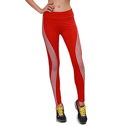 Di Funzionamento Ginnastica Pants Fitness Leggings Athletic Rosso Sports Arcobaleno nbsp; Neon Kobay Yoga qawHff