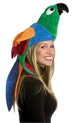 [Deluxe Parrot Hat Rasta Imposta Costume Halloween Hat] (Deluxe Parrot Costumes)