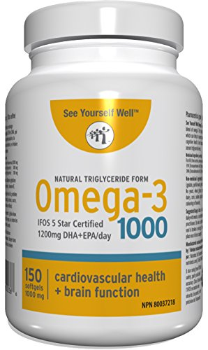 (Omega 3 - Natural State: Ultimate Strength Omega 3 Fish Oil Softgels, 1000 (150 count). High EPA & DHA Essential Fatty Acids, Supports Heart, Brain, Joints and Immune System. No Fishy Aftertaste )