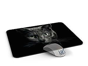 vintage retro cat Mousepad - Mousepad / retro vintage cat Mouse pad / Mousepad / Mousepad - AArt #MP028 (9.84 X 7.87 inches)