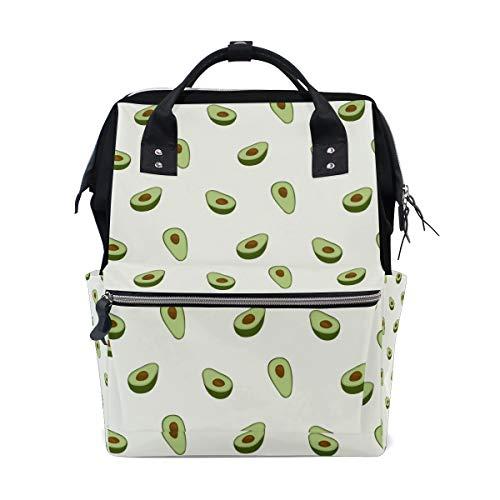 Diaper Avocado Bag - Unimagic Avocado Cute Fruits Diaper Bag Backpack Multi-Function Organizer Large Capacity Waterproof Durable Nappy Bags for Mom Dad Women Men