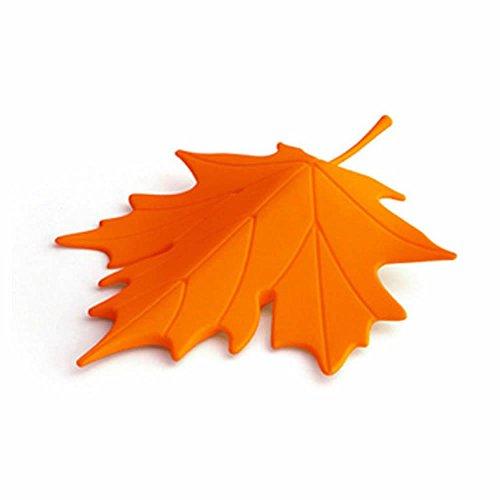 GOOTRADES Plastic Maple Leaf Style Home Decorative Door Stopper Doorstop (Orange)