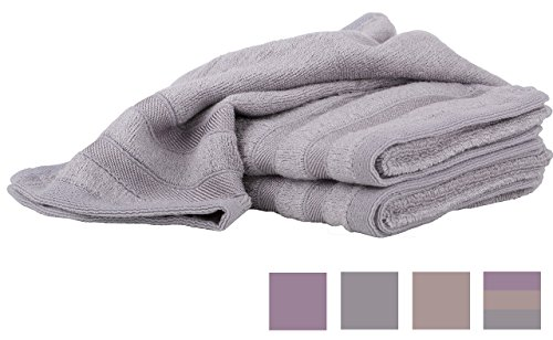 Softest Bamboo Hand Towels - Gray Kitchen Dish Bathroom Baby or Gym Towel - 100% Organic 3 Pc Luxurious Set - 3x More Absorbent than Cotton - Anti-Microbial Naturally Hypoallergenic Odor Resistant
