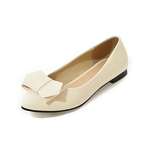 La versión coreana de zapatos puntiagudos plano superficiales/dulce y bajo arco zapatos planos A