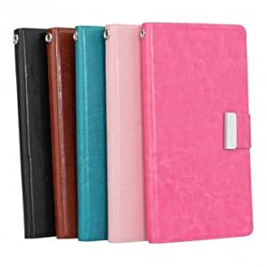 Synthetic Leather Card Wallet Case For Lenovo A800 Smart Phone --- Color:Brown