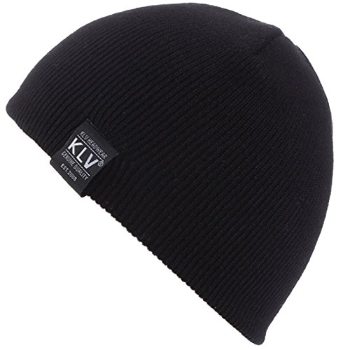 KUYOU Child Winter Pinstripe Short Paragraph Wool Cap Knitting Skull Hat (Black) - Pinstripe Wool Hat