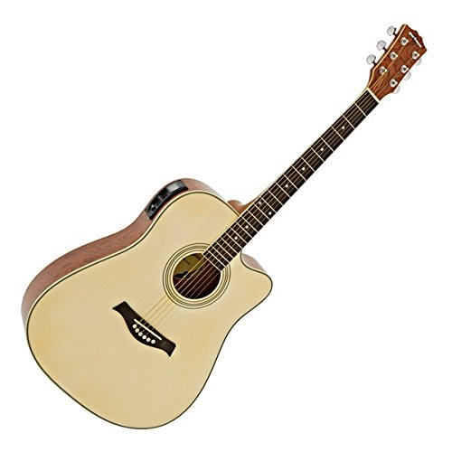 Guitarra Electroacústica Dreadnought Deluxe Palisandro: Amazon.es: Instrumentos musicales