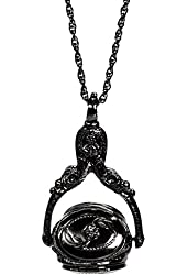 1928 Jewelry Vintage Inspired Rotating Locket Trio Long Necklace