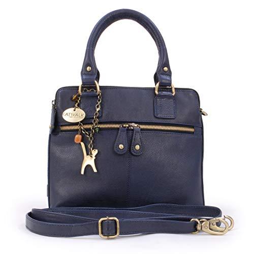 Catwalk Collection Handbags - Leder - Schultertragetasche/Umhängetasche/Shopper/Tote - Handtasche mit Schultergurt - VICKY