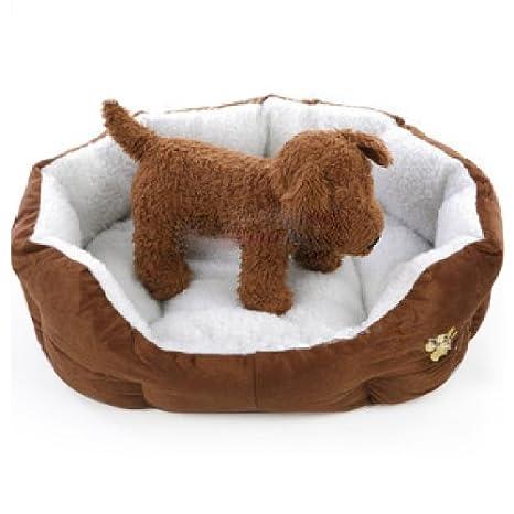 Popamazing - Lujo único suave interior Cálido Mascota Perro Gato Cachorro cómodo sofá cama Casa con Mat Cojín Perro Suministros L), color rojo: Amazon.es: ...