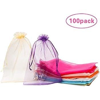 Amazon.com: SumDirect 100Pcs 8x12 Inches Mixed Color Organza ...