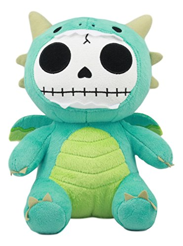 Ebros Larger Furry Bones Skeleton Teal Scorchie Dragon Plush Toy Doll Collectible 9 5  Tall Fantasy Dragon Hatchling Furrybones Stuffed Toy Doll