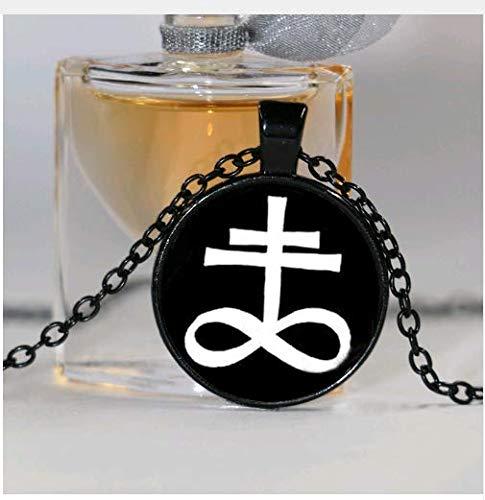 Art Glass Fashion Jewelry,Leviathan Cross Pendant, Ritual Altar Pendant, Satanic Occult Pendant Necklace -