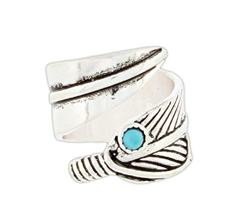 (RAIN Feather Bypass Ring (Silver-Tone))