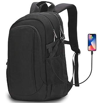 """4a1cc1c5e7afe Aonsen Sac à Dos d'affaires, 15.6"""" Sac Ordinateur Portable Chargeur USB  Sac"""