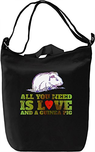 Love And A Guinea Pig Borsa Giornaliera Canvas Canvas Day Bag| 100% Premium Cotton Canvas| DTG Printing|
