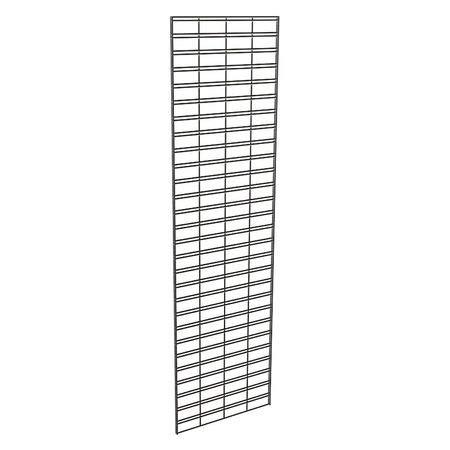 Wire Slatgrid Panel, Black, 2ft. x7ft, PK3
