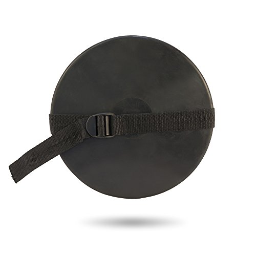 Rubber track & field Boy's 1.6 Kilo Discus with adjustable hand strap. Great discus for practicing throwing technique without worrying about needing to retrieve the discus (Discus Throwing)