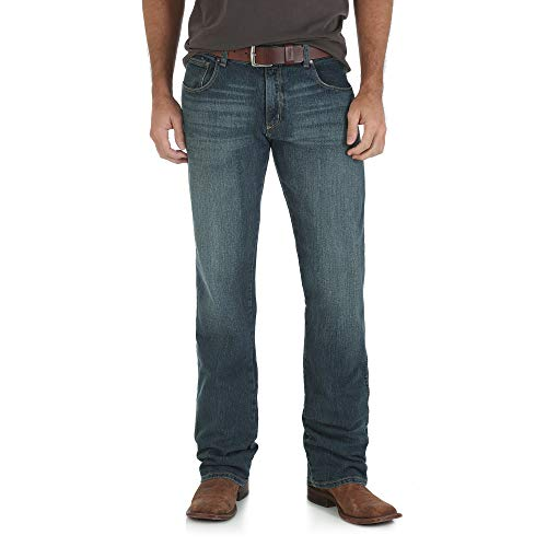 - Wrangler Men's Retro Slim Fit Straight Leg Jean, Macon, 38W x 34L