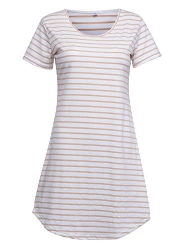 Persun Summer Sleeve Striped T Shirt