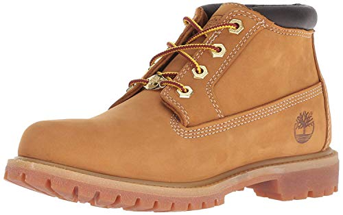 Timberland Women's Nellie Double Waterproof Ankle Boot,Wheat Yellow,6.5 W US (Boots Timberland Tan)